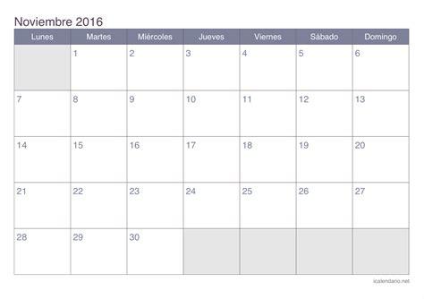 www auh mes noviembre 2016 calendario noviembre 2016 para imprimir icalendario net