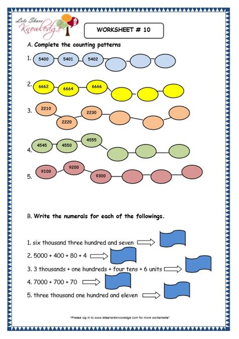 all worksheets 187 grade 1 number sense and numeration