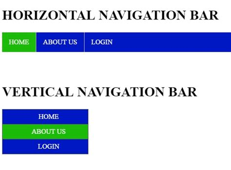 css tutorial navigation horizontal how to create a navigation bar in html css free source