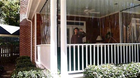 plastic curtains for porches clear plastic panels to winterize three season porch youtube