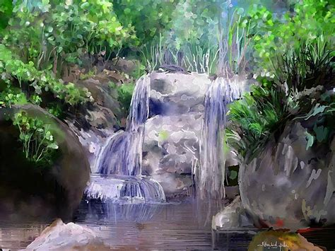 watercolor waterfall tutorial waterfall watercolor
