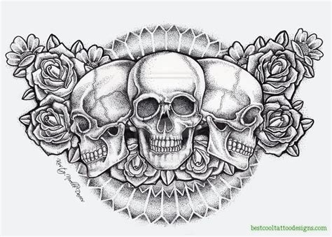 chest tattoo designs drawings skull designs