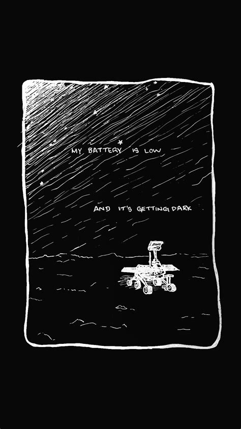 """""""My battery is low and it's getting dark"""" (art by"""