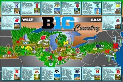 big ten map college sports fan broker creates big ten map