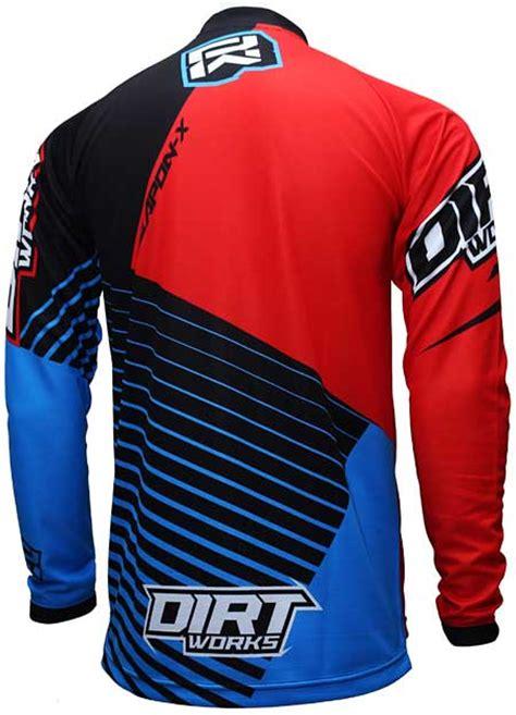 Kaos Jalan Jalan Warna Hitam jersey sepeda dirtworks weapon x merah biru jual baju