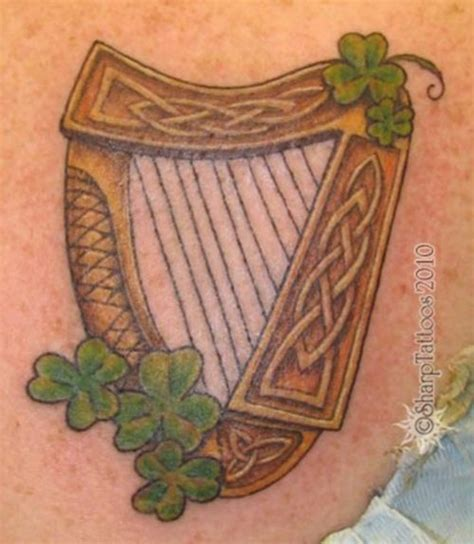 irish harp tattoo picture at checkoutmyink com
