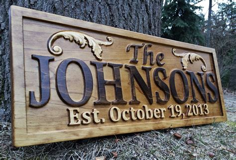 Handmade House Signs - personalized lake house sign wood plaque custom carved 3d last