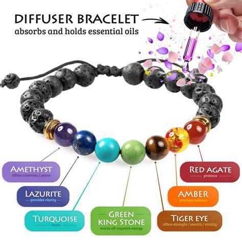 7 chakra lava diffuser bracelet the mandala store