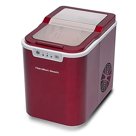 bed bath and beyond ice maker buy hamilton beach 174 portable ice maker in red from bed