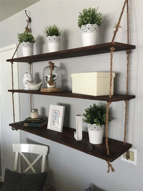 hanging selves best 25 rope shelves ideas on easy shelves