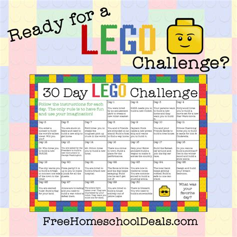 printable challenge 24 cards free printable 30 day lego challenge instant