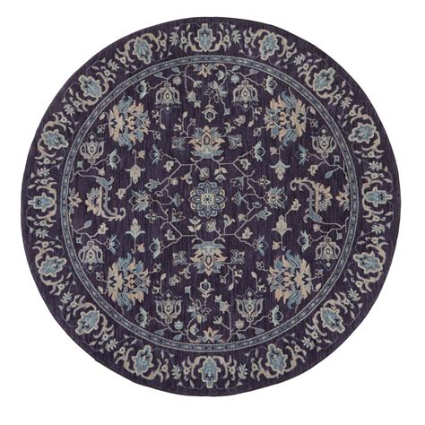 8ft rugs home decorators collection jackson indigo 8 ft x 8 ft area rug 495978 the home depot