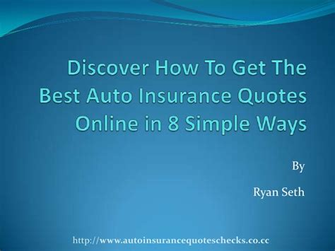 Get Insurance Quotes by Auto Insurance Quotes How To Get Cheap Insurance Rate In