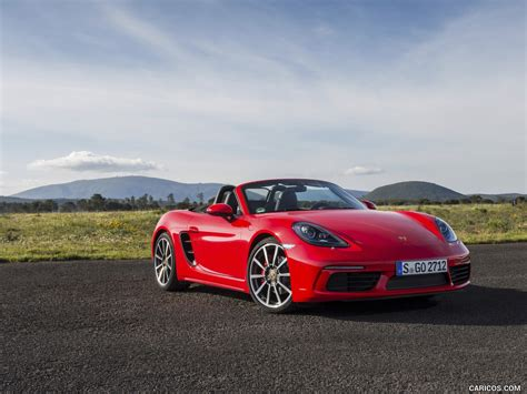 red porsche boxster 2017 2017 porsche 718 boxster s red front three quarter