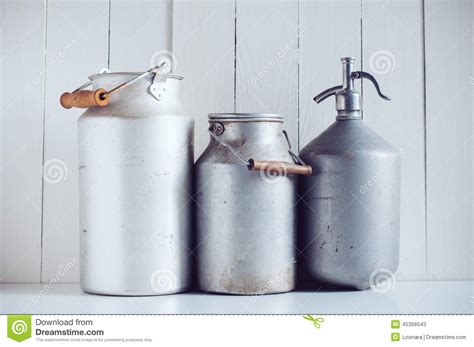 Home Decor Home Based Business milk cans and a siphon stock photo image 45308543