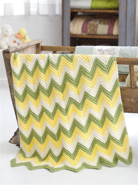 Zig Zag Baby Afghan Pattern | crochet patterns galore zig zag baby blanket