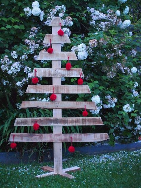 wooden tree decoration outdoor for christmas 2015 room