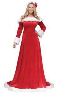 Lady santa long dress size s m 6 8 ladies christmas costume