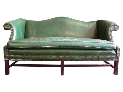 hunter green sofa vintage hunter green chippendale sofa chairish