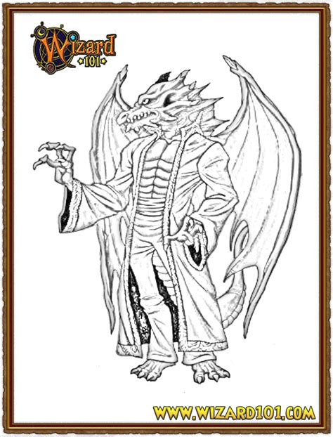 wizard 101 colouring pages