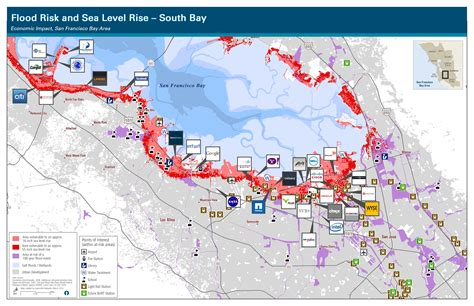 san jose sea level map south bay shoreline faq