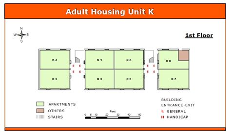 Room Mapping | adult housing k unit first floor