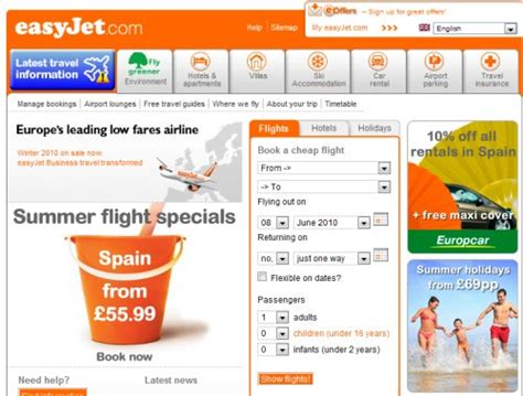 Easyjet Low Cost Calendar Easyjet Mobile Site Ready For Launch By End Of 2010 Tnooz