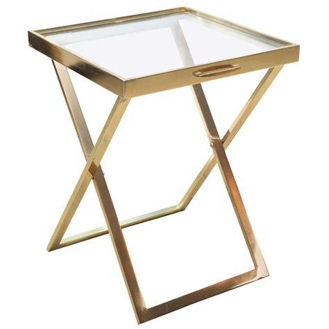 folding tray table brass folding tray table at 1stdibs