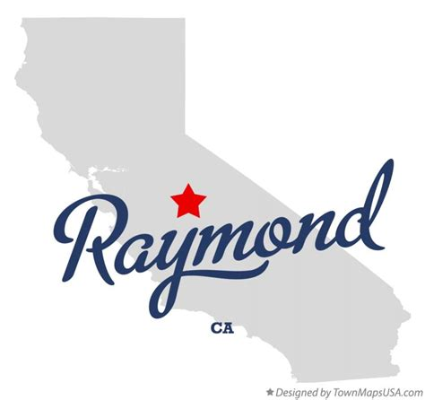raymond california map map of raymond ca california