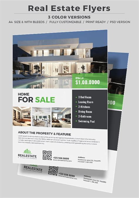 real estate for sale flyer template real estate top 25 real estate flyers free templates