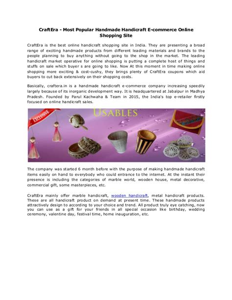Best Handmade Websites - craft era most popular handmade handicraft e commerce