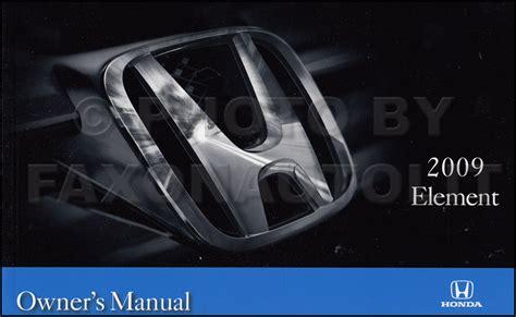 service and repair manuals 2009 honda element security system 2007 2010 honda element repair shop manual original