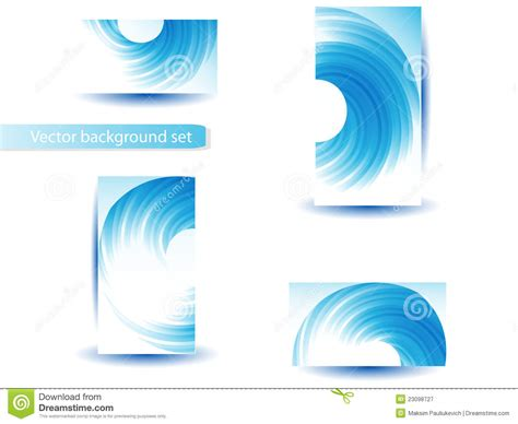 Set Blue Abstrak abstract blue vector template and set royalty free stock