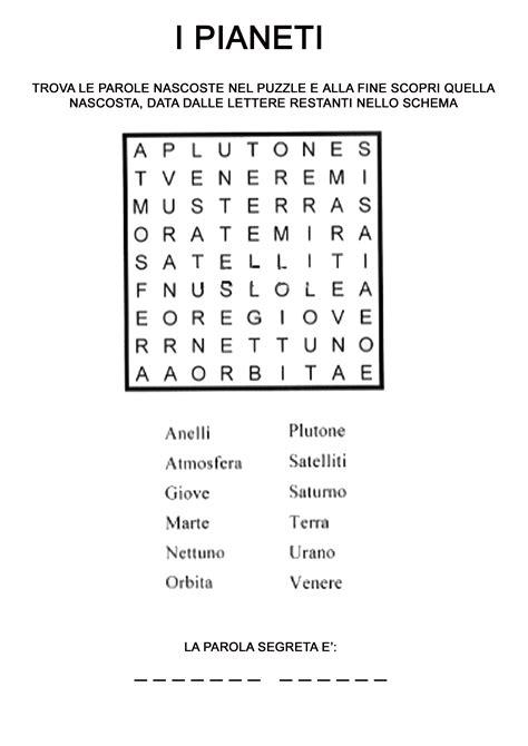 ricerca parole da lettere cruciverba sistema solare cerca con giochi