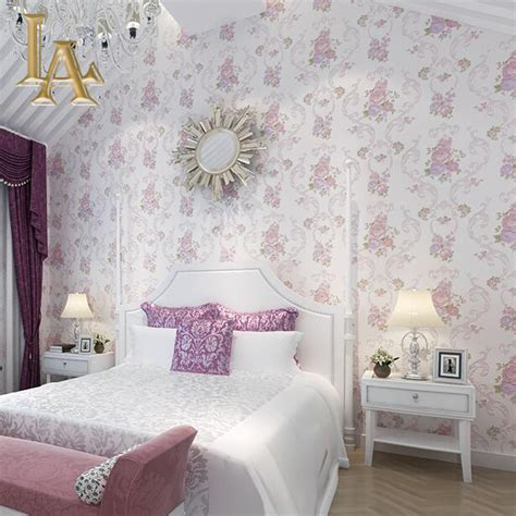 pink wallpaper for bedroom aliexpress buy embossed flocking pink green purple damask peony flowers wallpaper bedroom