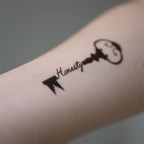 honesty tattoo designs new potatoo temporary honesty key