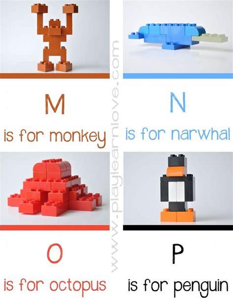 lego animal alphabet cards preschool and toddler
