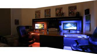 Gaming Desk Setup Ideas by Cool Computer Setups And Gaming Setups
