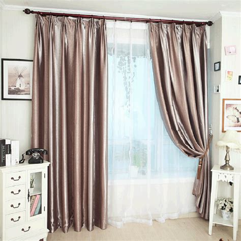 soundproof blackout curtains dark coffee color polyester soundproof privacy blackout lining