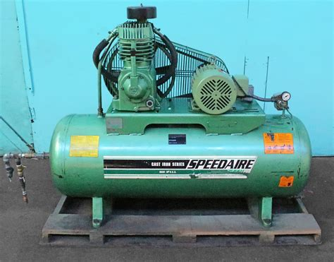 speedaire 17 cfm two stage 80 gallon air compressor norman machine tool