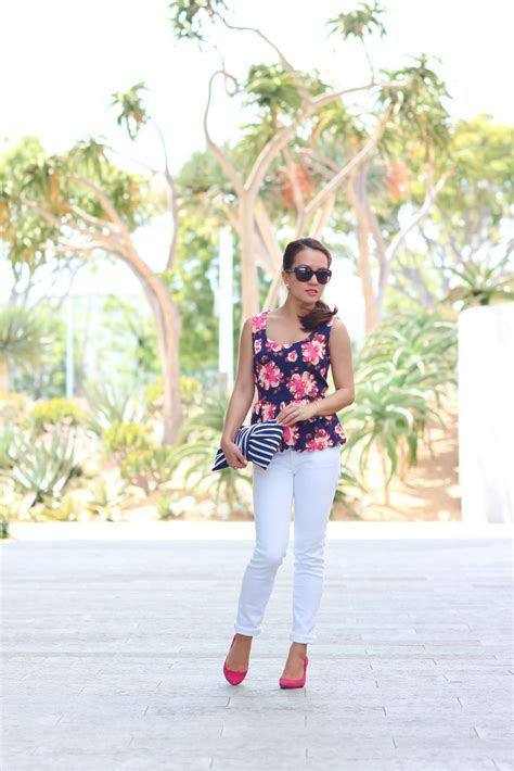 travelling fashion look fantastic in floral denim stylish petite fashion lifestyle travel and home decor