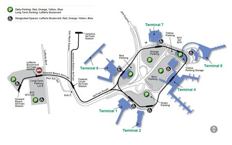 jfk map jfk international airport map
