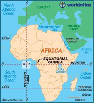 equatorial guinea map / geography of equatorial guinea