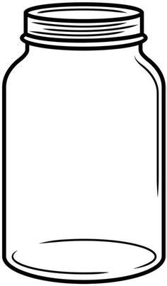jar template jar with flowers clipart black and white www