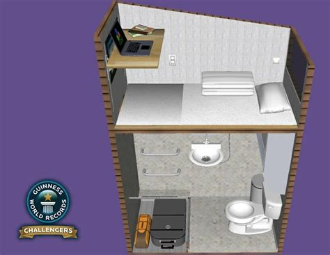 smallest bedroom in the world cube qb1 2m x 1m world s smallest livable house tiny