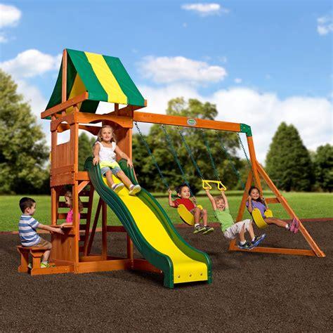 weston wooden swing set playsets backyard discovery
