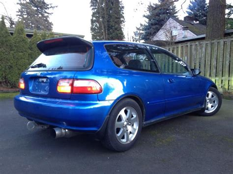 honda civic si 1992 or 1992 honda civic si hatchback b16 electron blue honda