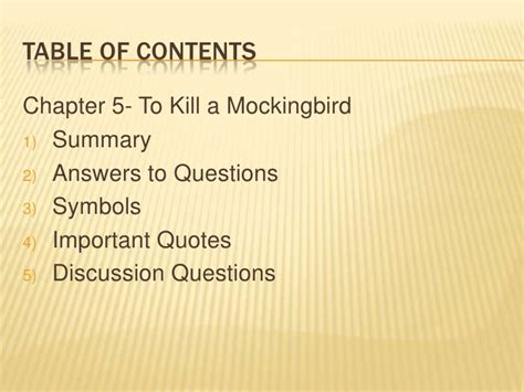 to kill a mockingbird chapter 4 6 questions