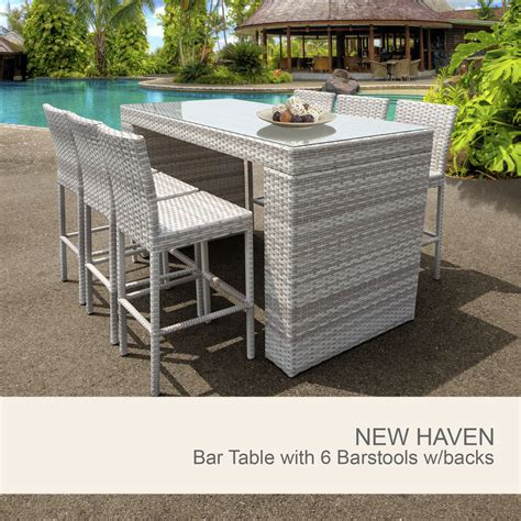 white wicker outdoor set 7 wicker bar setting white outdoor wicker bar set