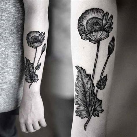 black poppy tattoo by kamil czapiga design of